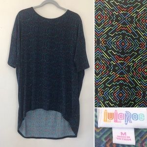 Lularoe hi low tunic shirt Irma black and green